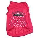 preiswerte Bekleidung & Accessoires für Hunde-Katze Hund T-shirt Hundekleidung Herz Cartoon Design Rose Baumwolle Kostüm Für Haustiere