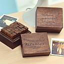 preiswerte Stempel-28pcs Hölzern Holz Party Büro / Geschäftlich Briefmarken Schreibblöcke