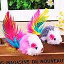 preiswerte Bekleidung & Accessoires für Hunde-Katzenfedern Lockspielzeug für Katzen Maus Textil Für Katze Kätzchen