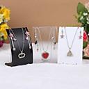 Недорогие Упаковка и стенды для украшений-нерегулярный Подставки для бижутерии - Мода Прозрачный, Черный, Белый 7 cm 4 cm 11 cm / Жен.