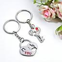 preiswerte Schlüsselanhänger-individuellen Gravur liebe dich Metall-Paare keychain