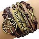 cheap Women's Watches-Women's Plaited Wrap Wrap Bracelet - Leather Tree of Life, Love, Infinity Ladies, Vintage, Inspirational Bracelet Jewelry Coffee For Christmas Gifts Daily Casual Sports