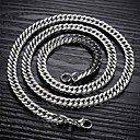cheap Bracelets-Men's Chain Necklace - Titanium Steel A, B, C Necklace For Christmas Gifts, Wedding, Party
