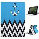 baratos Capinhas para iPhone-Capinha Para iPad 4/3/2 Com Suporte Hibernação / Ligar Automático Capa Proteção Completa Linhas / Ondas Têxtil para iPad 4/3/2