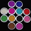 hesapli Makyaj ve Tırnak Bakımı-12 pcs Nail Jewelry / Glitter & Poudre Mevye / Çiçek / Soyut Sevimli Günlük Tırnak Tasarımı Tasarımı / Karikatür / Punk