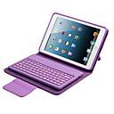 hesapli iPad Klavyeleri-Pouzdro Uyumluluk iPad Mini 3/2/1 Satandlı Klavyeli Flip Tam Kaplama Kılıf Tek Renk Sert PU Deri için