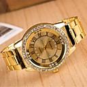 Χαμηλού Κόστους Γυναικεία ρολόγια-Γυναικεία Χαλαζίας Ρολόι Φορέματος Hot Πώληση κράμα Μπάντα Λάμψη Ασημί Χρυσό Rose