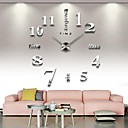 cheap Diecasts & Toy Vehicles-Frameless Large DIY Wall Clock, Modern 3D Wall Clock with Mirror Numbers Stickers for Home Office Decorations Gift