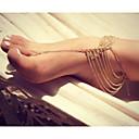 hesapli Vücut Takıları-Katmanlı Ayak bileziği - Eşsiz Tasarım, Avrupa, Moda Gümüş / Altın Uyumluluk Yılbaşı Hediyeleri Günlük Kumsal Kadın's