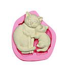 Χαμηλού Κόστους Βρύσες-Η μητέρα γάτα&γατάκι σιλικόνη καλούπι κέικ διακοσμώντας καλούπι σιλικόνης για φοντάν χειροτεχνία κοσμήματα καραμέλα PMC πηλό ρητίνη