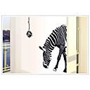 hesapli Küpeler-moda çevre çıkarılabilir zebra deseni pvc duvar sticker