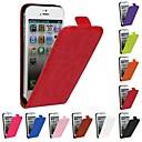 저렴한 아이폰 케이스-케이스 제품 iPhone 5 Apple 아이폰5케이스 플립 전체 바디 케이스 한 색상 하드 PU 가죽 용 iPhone SE/5s iPhone 5