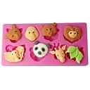 preiswerte Backzubehör & Geräte-Vier c Kuchenformen Waldtiere Rollfondant Formen Farbe Rosa