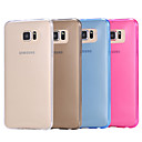 baratos Protetores de Tela para Samsung-Capinha Para Samsung Galaxy Samsung Galaxy Capinhas Transparente Capa traseira Sólido TPU para S6