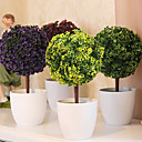 """hesapli Yapay Çiçekler-Beyaz vazoda 10.2 """"h simülasyon ağacı"""