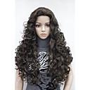 hesapli Makyaj ve Tırnak Bakımı-Sentetik Peruklar Bukle Sentetik Saç 26 inç Peruk Kadın's Sarışın
