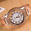 preiswerte Herrenuhren-yoonheel Damen Armbanduhr Imitation Diamant Metall Band Freizeit / Modisch / Elegant Silber / Gold / Rotgold / Ein Jahr / SODA AG4