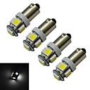 저렴한 다양한 LED 조명-70-100 lm BA9S 장식 조명 5 LED가 SMD 5050 차가운 화이트 DC 12