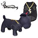 preiswerte Bekleidung & Accessoires für Hunde-Katze Hund T-shirt Hundekleidung Schwarz Terylen Kostüm Für Haustiere