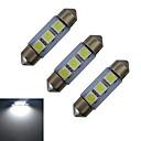 hesapli Diğer LED Işıkları-1W 60 lm Festoon Dekoratif Işıklar 3 led SMD 5050 Serin Beyaz DC 12V