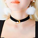 preiswerte Ohrringe-Damen Halsketten / Tattoo-Hals - Perle, Leder MOON Tattoo Stil Farbbildschirm Modische Halsketten Schmuck Für