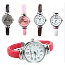 cheap Women's Watches-Men's Wrist Watch Quartz Hot Sale PU Band Analog Charm Fashion Black / White / Red - Brown Red Pink One Year Battery Life / SSUO 377