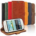 hesapli Galaxy S Serisi Kılıfları / Kapakları-Pouzdro Uyumluluk Samsung Galaxy Samsung Galaxy Kılıf Cüzdan / Kart Tutucu / Satandlı Tam Kaplama Kılıf Solid PU Deri için S3 Mini