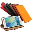 baratos Protetores de Tela para Samsung-Capinha Para Samsung Galaxy Samsung Galaxy Capinhas Porta-Cartão / Com Suporte / Flip Capa Proteção Completa Sólido PU Leather para A3