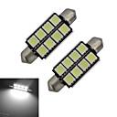 hesapli Diğer LED Işıkları-2pcs 150-170lm Festoon Dekoratif Işıklar 8 LED Boncuklar SMD 5050 Serin Beyaz 12V