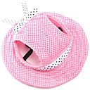 cheap Dog Clothing & Accessories-Cat / Dog Bandanas & Hats Dog Clothes Solid Colored Pink / Stripe / White / Pink Fabric Costume For Pets Summer Men's / Women's Holiday /