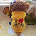 tanie Naklejki i szablony-Pies Bluzy z kapturem Ubrania dla psów Litera i numer Yellow Rose Polary Kostium Dla zwierząt domowych Klasyczny