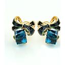 ieftine Cercei-Pentru femei Cristal Cercei Stud femei European Modă 18K Placat cu Aur Ștras Placat Auriu cercei Bijuterii Albastru Pentru / Diamante Artificiale / Cristal Austriac