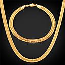 hesapli Bilezikler-Tıknaz Takı Seti - Altın Kaplama Dahil etmek Gümüş / Gül / Altın Uyumluluk Düğün Parti Günlük / Kolyeler / Bilezik