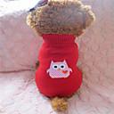 tanie Ubranka i akcesoria dla psów-Psy Sweter Ubrania dla psów Czerwony / Biały Mieszane materiały Kostium Na Zima