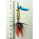 Buy Hengjia 1Spoon Metal Fishing Lures Spinner Baits 6g #6 Hook