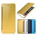 preiswerte Zubehör für GoPro-DE JI Hülle Für Apple iPhone 8 Plus / iPhone 6 Plus / iPhone 6 Beschichtung / Spiegel / Flipbare Hülle Ganzkörper-Gehäuse Solide Hart PU-Leder für iPhone 8 Plus / iPhone 6s Plus / iPhone 6s