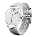 Χαμηλού Κόστους Βραχιόλια-Ανδρικά Μοναδικό Creative ρολόι Ιαπωνικά Καθημερινό Ρολόι κράμα Μπάντα Φυλαχτό Ασημί