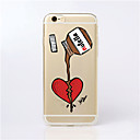 cheap iPhone Cases-Case For Apple iPhone 6 Plus / iPhone 6 Ultra-thin / Transparent / Pattern Back Cover Cartoon Soft TPU for iPhone 6s Plus / iPhone 6s / iPhone 6 Plus