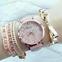 Χαμηλού Κόστους Γυναικεία ρολόγια-Γυναικεία Ρολόι Καρπού ρολό περιτυλίγματος Χαλαζίας Συνθετικό δέρμα με επένδυση Μαύρο / Λευκή / Ροζ Εσωτερικού Μηχανισμού Αναλογικό κυρίες Μοντέρνα Κομψό - Λευκό Μαύρο Ροζ
