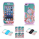 cheap iPod Cases/Covers-Cherry Blossom Pattern High Quality Snap-on PC + Silicone Hybrid Combo Armor Case Cover for iPod touch 6