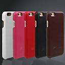 hesapli iPhone Kılıfları-Pouzdro Uyumluluk iPhone 6s iPhone 6 Apple iPhone 6 Other Arka Kapak Tek Renk Sert Gerçek Deri için iPhone 6s iPhone 6