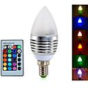 ieftine Becuri LED Încastrate-YWXLIGHT® 4W 300-350 lm E14 Becuri LED Lumânare A60(A19) 3 led-uri LED Integrat Intensitate Luminoasă Reglabilă Decorativ Telecomandă RGB