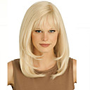 billige Mode Halskæde-Syntetiske parykker Lige Stil Med bangs / pandehår Lågløs Paryk Blond Blond Syntetisk hår Dame Blond Paryk Kort Halloween Paryk