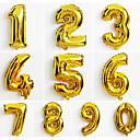 hesapli Balonlar-10pcs büyük altın numarası 0-9 balonlar yeni yıl yılbaşı partisi düğün dekorasyon balonu