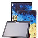 hesapli Tablet Kılıfları-Pouzdro Uyumluluk Lenovo Tam Kaplama Kılıf Tablet Kılıfları Desen Sert PU Deri için