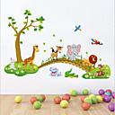 hesapli Duvar dekorasyonu-Hayvanlar Natürmort Karton Duvar Etiketler Uçak Duvar Çıkartmaları Dekoratif Duvar Çıkartmaları, Vinil Ev dekorasyonu Duvar Çıkartması