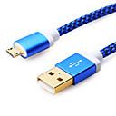 ราคาถูก สายเคเบิลโทรศัพท์และอะแดปเตอร์-Micro USB สายเคเบิ้ล 1m-1.99m / 3ft-6ft Plastics อะแดปเตอร์สายเคเบิล USB สำหรับ โทรศัพท์ Samsung