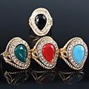preiswerte Halsketten-Damen Statement-Ring - vergoldet damas, Modisch Eine Größe Rot / Grün / Blau Für Party