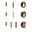 abordables Coques d'iPhone-Bracelet de Montre  pour Apple Watch Series 4/3/2/1 Apple Boucle Classique Vrai Cuir Sangle de Poignet