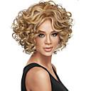 abordables Leurres & Mouches de Pêche-Perruque Synthétique Bouclé Cheveux Synthétiques Blond / Marron Perruque Femme Court Sans bonnet